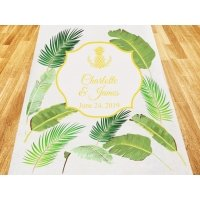 Palm Beach Glam Personalized Aisle Runner
