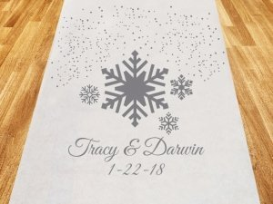 Winter Wonderland Personalized Aisle Runner image
