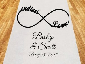 Endless Love Personalized Wedding Aisle Runner image