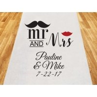 Mr. and Mrs. Personalized Aisle Runner