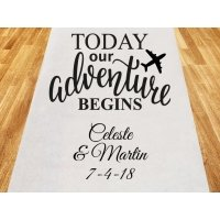Today Our Adventure Begins Personalized Wedding Aisle Runner