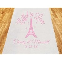 Eiffel in Love Personalized Wedding Aisle Runner
