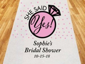 She Said Yes Personalized Aisle Runner image