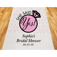 She Said Yes Personalized Aisle Runner