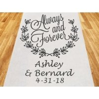 Always and Forever Personalized Wedding Aisle Runner