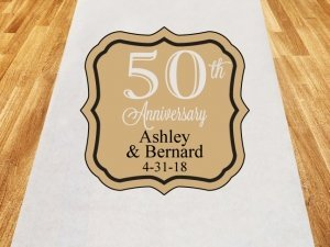 50th Anniversary Personalized Wedding Aisle Runner image