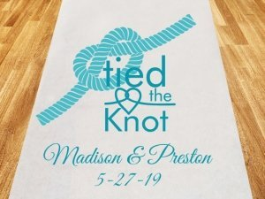 Tied The Knot Personalized Wedding Aisle Runner image