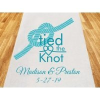 Tied The Knot Personalized Wedding Aisle Runner
