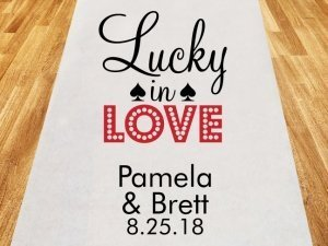 Lucky in Love Personalized Wedding Aisle Runner image