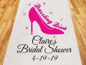 The Dazzling Diva Personalized Wedding Aisle Runner image