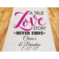 A True Love Story Personalized Wedding Aisle Runner