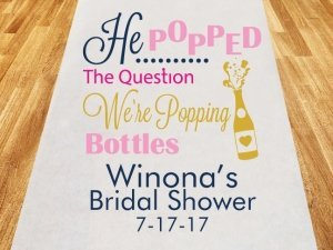 He Popped The Question Personalized Aisle Runner image