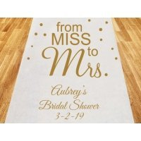 From Miss to Mrs. Personalized Wedding Aisle Runner