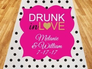 Drunk in Love Personalized Wedding Aisle Runner image