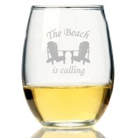 The Beach Is Calling Stemless Wine Glass (Set of 4)