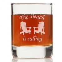 The Beach Is Calling Rock Glasses (Set of 4)