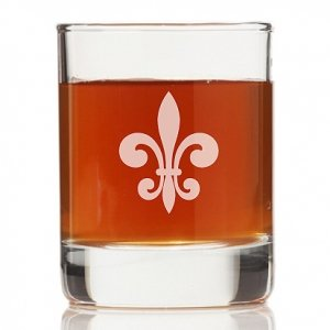 Fleur de Lis Glass Rock Glasses (Set of 4) image
