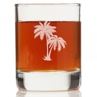 Palm Tree Mason Rock Glasses (Set of 4)