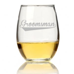 Groomsman Sport Stemless Wine Glass (Set of 4) image