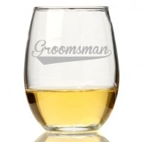 Groomsman Sport Stemless Wine Glass (Set of 4)