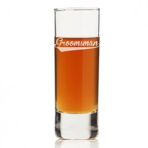 Groomsman Sport Tall Shot Glass (Set of 4) image