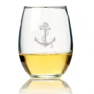 Anchor Stemless Wine Glass (Set of 4) image