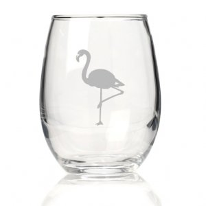 Flamingo Stemless Wine Glass (Set of 4) image