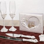 Crystal Calla Lily Accessory Set