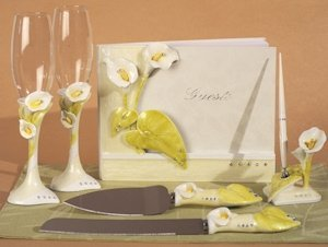 Elegant Lily Collection Wedding Accessory Set image