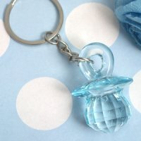 Blue Baby Pacifier Keychain Favor