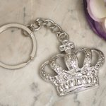 Silver Royal Crown Keychain Favors