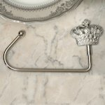 Silver Royal Crown Handbag Holder