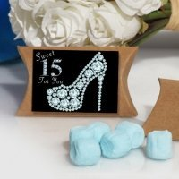 Dazzling Shoe Sweet 15 Design Mint Box Favors