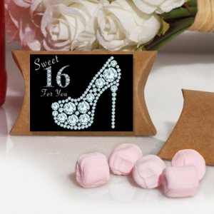 Dazzling Shoe Sweet 16 Pink Mint Favor Boxes image