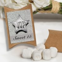 VIP Sweet 15 Design White Mint Favor Boxes