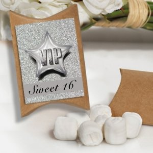VIP Sweet 16 Design White Mint Favor Boxes image