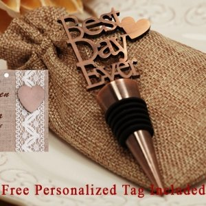 Personalized Our Best Day Ever Copper Bottle Stopper image
