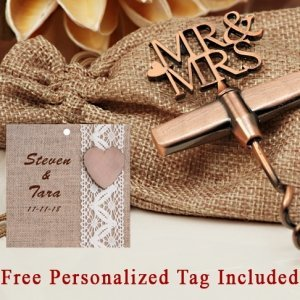 Personalized Copper Elegance Mr. And Mrs. Wine Opener image