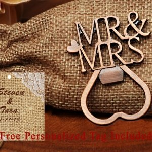 Personalized Copper Elegance Mr. And Mrs. Bottle Opener image
