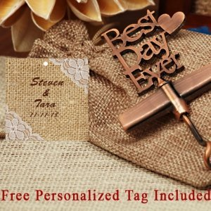 Personalized Our Best Day Ever Copper Wine Opener image