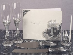 Platinum Castle Collection Wedding Accessory Set image