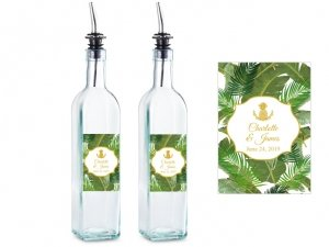 Palm Beach Glam Personalized Olive Oil Bottle Favors image