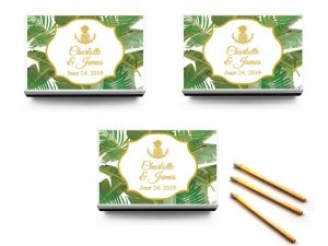 Palm Beach Glam Personalized White Matchboxes (Set of 50) image