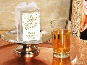 Best Day Ever Personalized Box Shot Glass Favors image