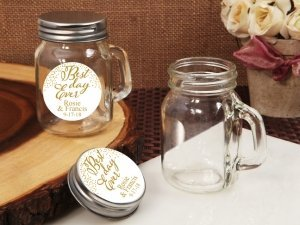 Best Day Ever Personalized Mini Mason Jar Glass Favors image