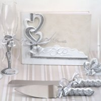 Wedding Bells Linked Hearts Reception Accessory Set