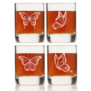 Butterfly Shot Glass Favors (Set of 4) image