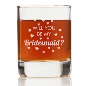 Will You Be My Bridesmaid Heart Shot Glass image