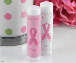 Pink Ribbon Lip Balm Favors image