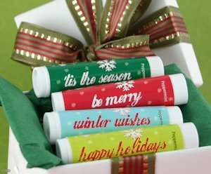 Holiday Greetings Lip Balm Favors image